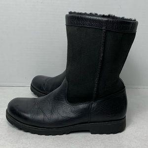 UGG Boots | Black Leather 'Brooks' Sz 6